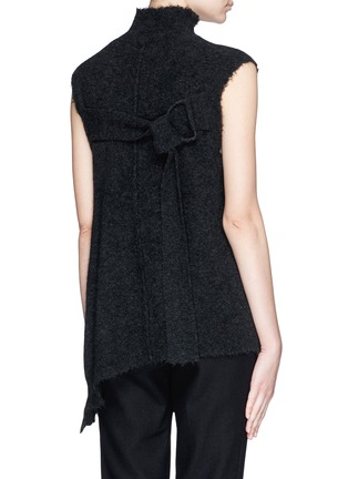 Back View - Click To Enlarge - 3.1 Phillip Lim - Frayed edge wool blend sleeveless sweater