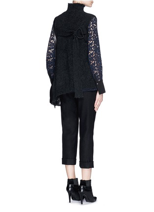 Figure View - Click To Enlarge - 3.1 Phillip Lim - Frayed edge wool blend sleeveless sweater