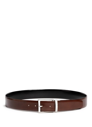 Figure View - Click To Enlarge - ISAIA - Reversible leather belt