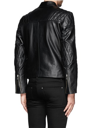 Back View - Click To Enlarge - McQ Alexander McQueen - Stitched panel biker jacket