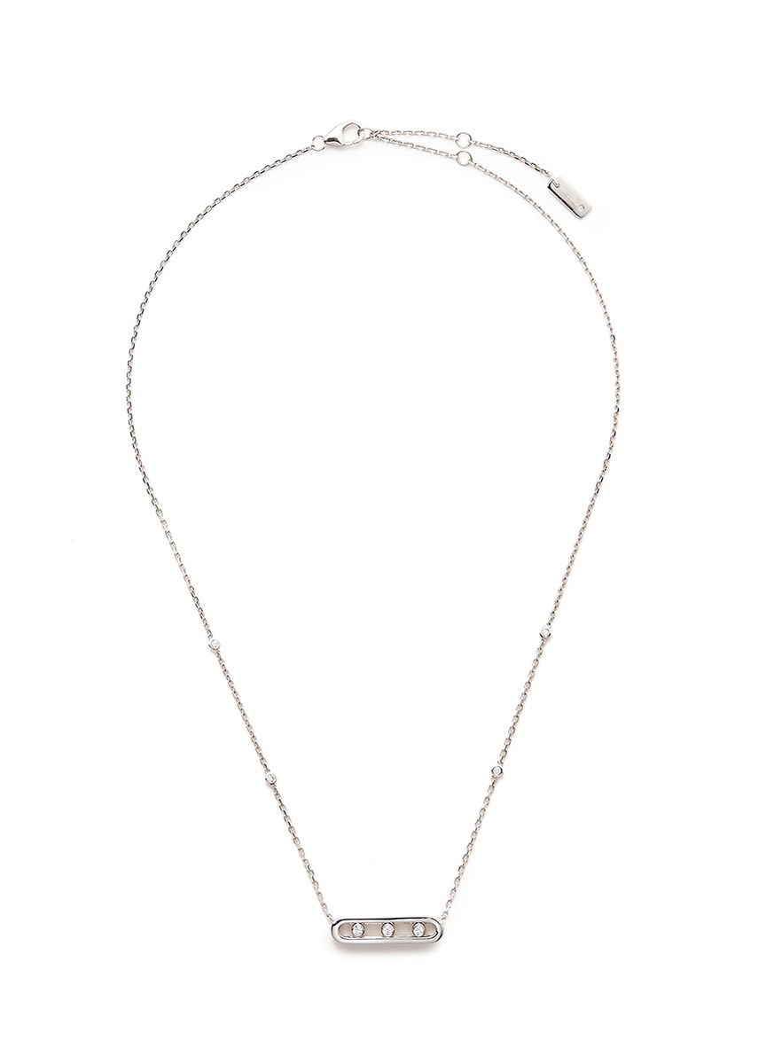 Messika 'Baby Move' diamond 18k white gold necklace