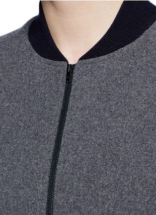 Detail View - Click To Enlarge - 72883 - 'Scout' climate control felt bomber jacket