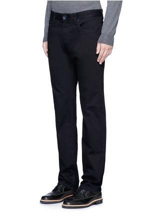Front View - Click To Enlarge - ARMANI COLLEZIONI - Slim fit solid cotton denim jeans