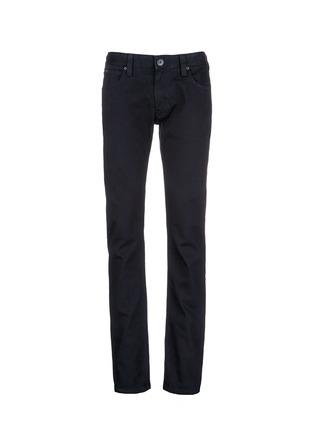 Main View - Click To Enlarge - ARMANI COLLEZIONI - Slim fit solid cotton denim jeans