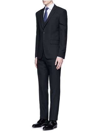 Figure View - Click To Enlarge - Armani Collezioni - Wool hopsack waistcoat