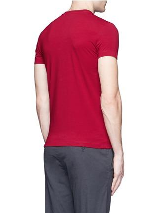 Back View - Click To Enlarge - Armani Collezioni - Slim fit cotton T-shirt