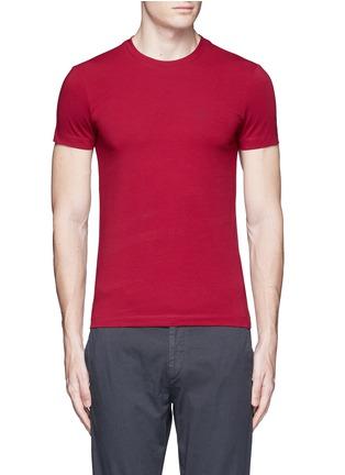 Main View - Click To Enlarge - Armani Collezioni - Slim fit cotton T-shirt