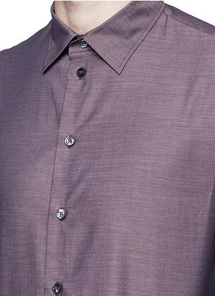 Detail View - Click To Enlarge - Armani Collezioni - Slim fit cotton shirt