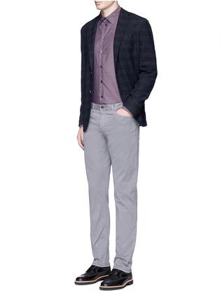 Figure View - Click To Enlarge - Armani Collezioni - Slim fit cotton shirt