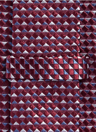 Detail View - Click To Enlarge - Armani Collezioni - Diamond jacquard tie