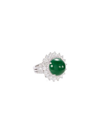 Main View - Click To Enlarge - LC COLLECTION JADE - Diamond jade 18k gold ring