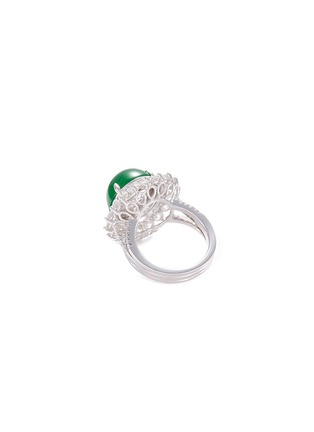 Figure View - Click To Enlarge - LC COLLECTION JADE - Diamond jade 18k gold ring