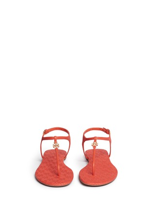 Front View - Click To Enlarge - Tory Burch - 'Marion' quilted leather T-strap sandals