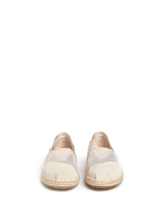 Front View - Click To Enlarge - 90294 - Classic mesh espadrille slip-ons