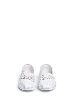 Front View - Click To Enlarge - 90294 - Classic lace leaves slip-ons