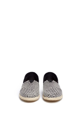 Front View - Click To Enlarge - 90294 - Classic woven espadrille slip-ons