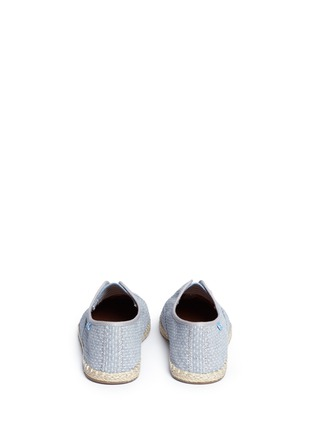 Back View - Click To Enlarge - 90294 - 'Palmera' dot stitch chambray slip-on sneakers