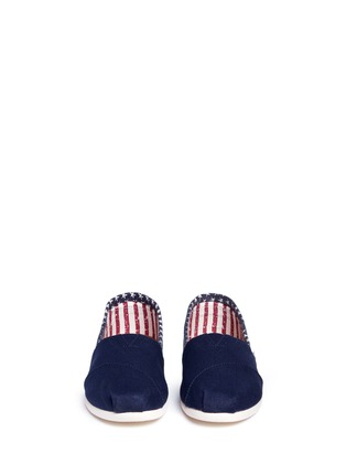 Front View - Click To Enlarge - 90294 - Classic flag print canvas slip-ons