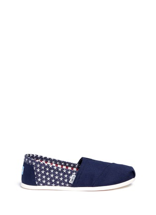Main View - Click To Enlarge - 90294 - Classic flag print canvas slip-ons