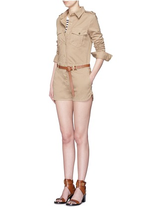 Figure View - Click To Enlarge - Frame Denim - 'Citadel' cotton twill military rompers