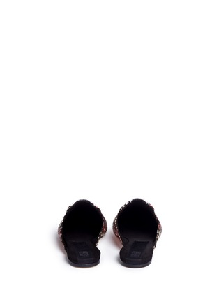 Back View - Click To Enlarge - SANAYI 313 - 'Disco' chevron stripe metallic raffia slippers