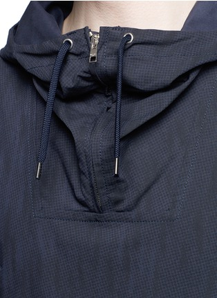 Detail View - Click To Enlarge - Paul Smith - Water resistant cotton blend twill pullover parka