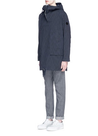 Front View - Click To Enlarge - Paul Smith - Water resistant cotton blend twill pullover parka