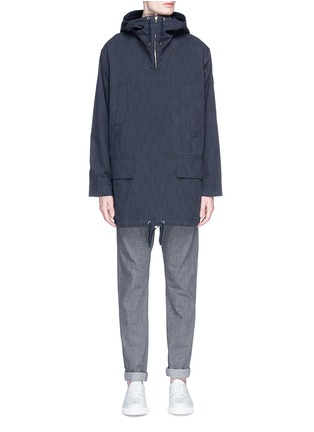 Main View - Click To Enlarge - Paul Smith - Water resistant cotton blend twill pullover parka