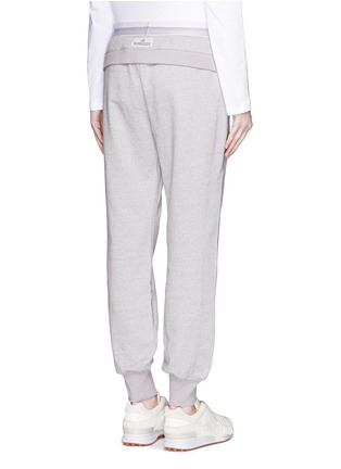 Back View - Click To Enlarge - Adidas By Stella Mccartney - 'ESS' elastic waist organic cotton blend sweatpants