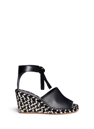 Main View - Click To Enlarge - Proenza Schouler - Leather espadrille wedge sandals