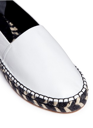 Detail View - Click To Enlarge - Proenza Schouler - Leather espadrille slip-ons