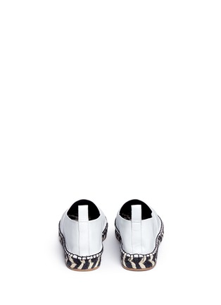 Back View - Click To Enlarge - Proenza Schouler - Leather espadrille slip-ons