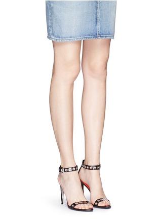 Figure View - Click To Enlarge - Proenza Schouler - 'Grommet' acetate heel leather strap sandals