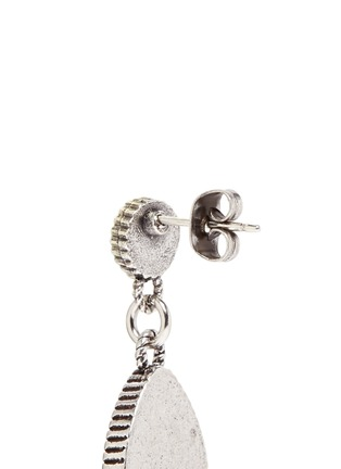 Detail View - Click To Enlarge - Philippe Audibert - 'Crees' stone teardrop earrings
