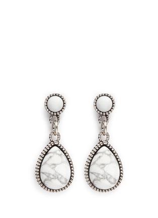 Main View - Click To Enlarge - Philippe Audibert - 'Crees' stone teardrop earrings