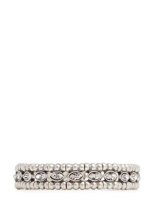 Main View - Click To Enlarge - Philippe Audibert - 'Beth' crystal bead elastic bracelet