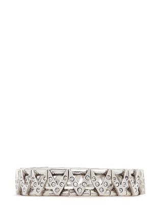 Main View - Click To Enlarge - PHILIPPE AUDIBERT - 'VIWY' crystal bead cutout elastic bracelet