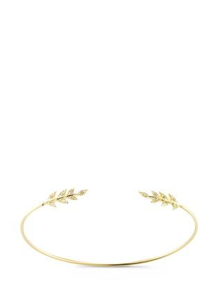 Main View - Click To Enlarge - Mizuki - 'Sea of Beauty' diamond 14k gold wire petal cuff