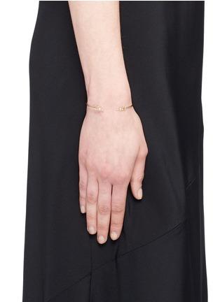 Figure View - Click To Enlarge - Mizuki - 'Sea of Beauty' diamond 14k gold wire petal cuff