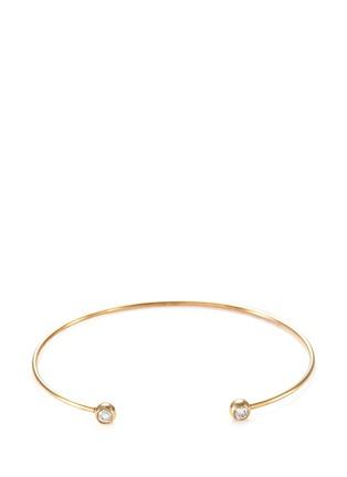 Main View - Click To Enlarge - Mizuki - Diamond 14k gold cuff