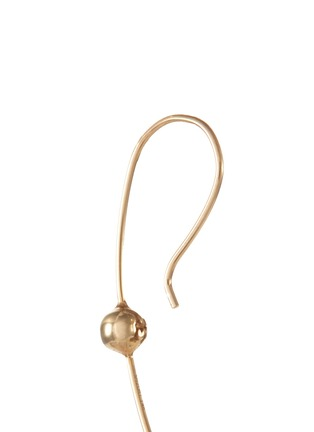 Detail View - Click To Enlarge - Mizuki - 'Curved Wire' diamond 14k gold earring