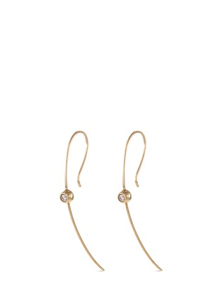 Main View - Click To Enlarge - Mizuki - 'Curved Wire' diamond 14k gold earring
