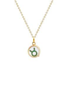 Loquet London 18k yellow gold emerald zodiac charm - Taurus