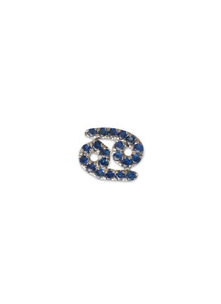 Main View - Click To Enlarge - Loquet London - 18k white gold sapphire zodiac charm - Cancer