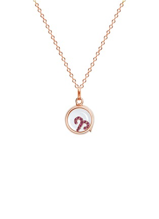 Figure View - Click To Enlarge - Loquet London - 18k rose gold ruby zodiac charm - Aries