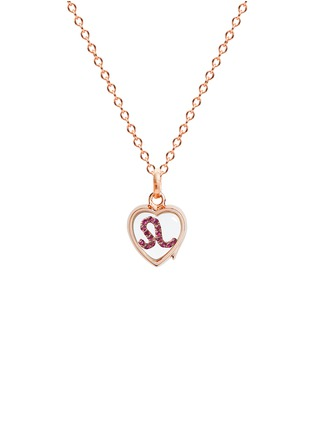 Figure View - Click To Enlarge - Loquet London - 18k rose gold ruby zodiac charm - Leo