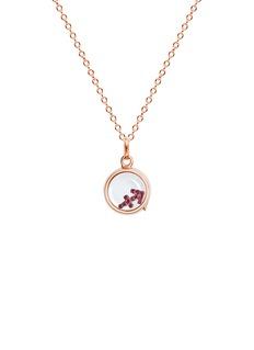 Loquet London 18k rose gold ruby zodiac charm - Sagittarius