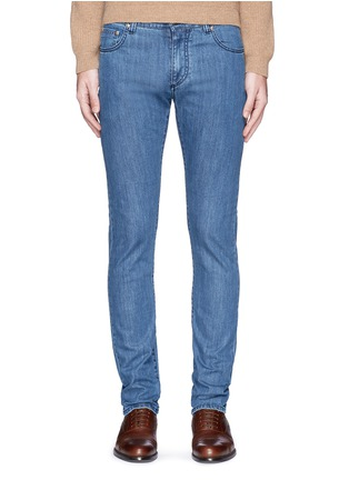 Detail View - Click To Enlarge - ISAIA - Cotton denim jeans