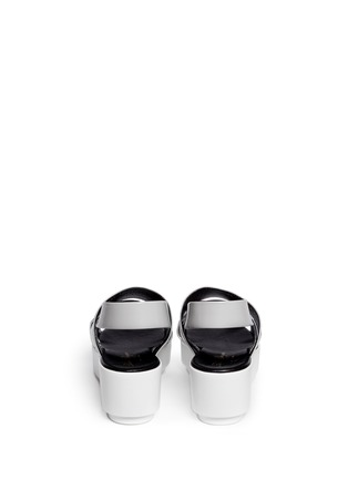 Back View - Click To Enlarge - CLERGERIE - 'Phator' mix leather platform sandals