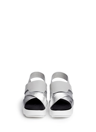 Figure View - Click To Enlarge - CLERGERIE - 'Phator' mix leather platform sandals